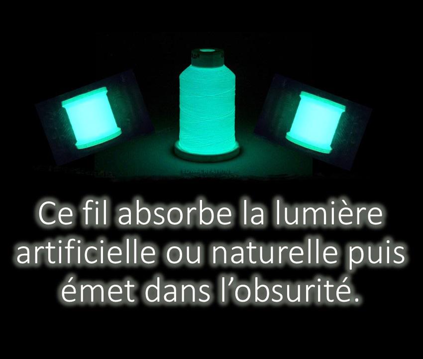 Vexin broderies - Fil phosphorescent